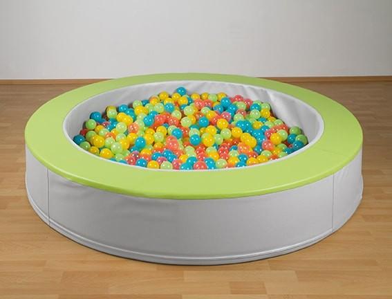 Rundes Bällebad aus Kunstleder