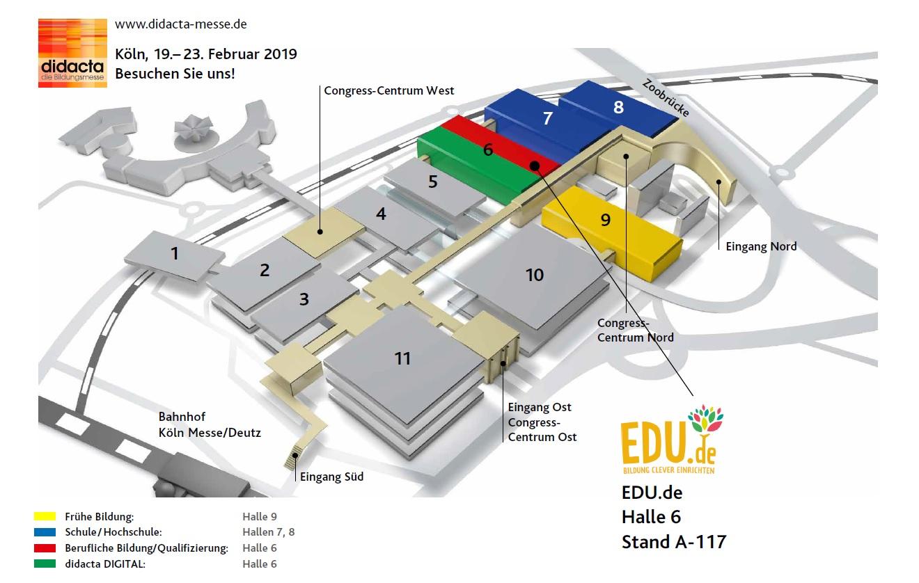 Hallen-Lageplan EDU